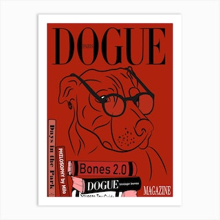 Dogue Magazine Book Smart Art Print