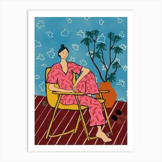 Plant Lady At Home Art Print