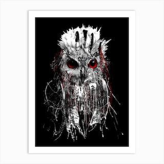 Owl Bw Art Print