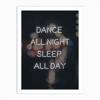 Dance All Day Art Print
