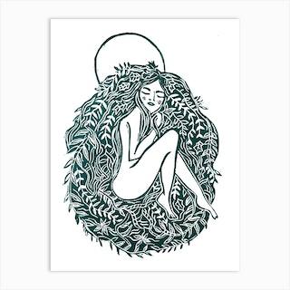 Forest Moon Art Print