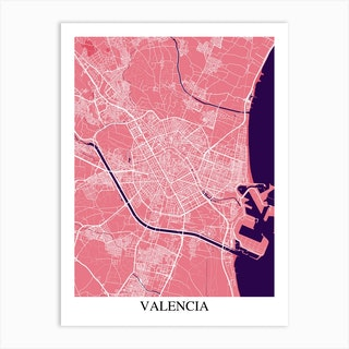 Valencia Pink Purple Art Print