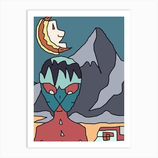 Alien Encounter Art Print