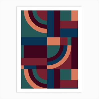 Velvet Blocks Art Print