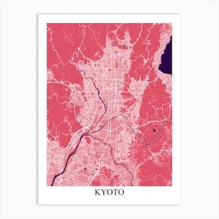 Kyoto Pink Purple Art Print