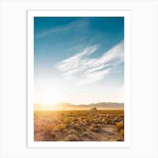Nevada Desert Sunrise Art Print