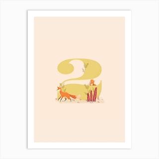 Letter 2 Foxes Art Print