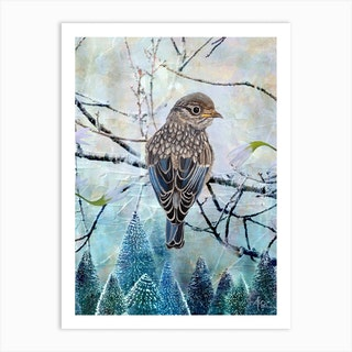 Perked And Perched Art Print