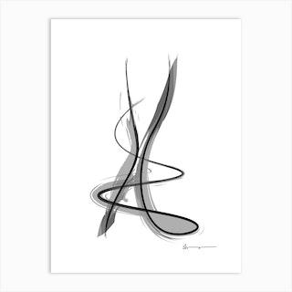 Spiral Strokes 11 Art Print
