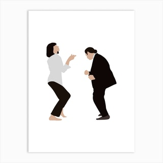 Pulp Fiction Dance Art Print