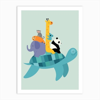 Travel Together Art Print