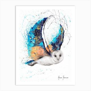 Majestic Moonlight Owl Art Print