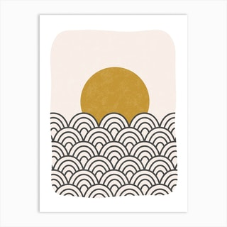Sun Waves Art Print