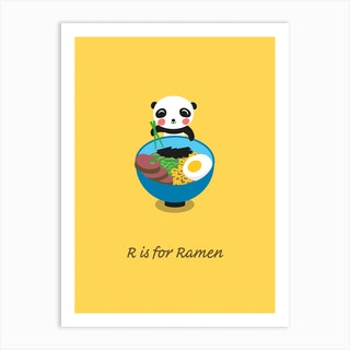 Ramen Panda Art Print