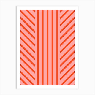 Lined Pink Art Print
