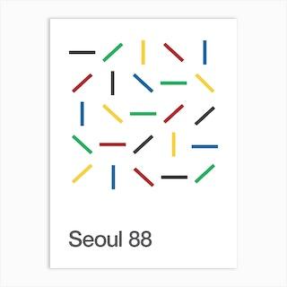 Seoul 88 Olympics Art Print