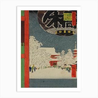 Temple at Asakusa, Utagawa Hiroshige Art Print