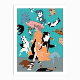 Cats & Dogs Art Print