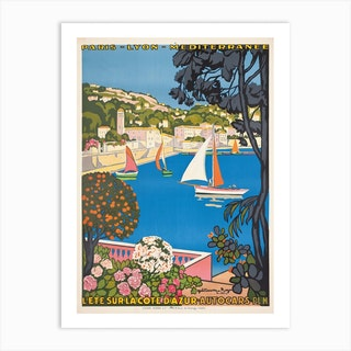 Summer On The Cote Dazur 1947 Art Print