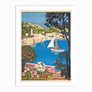 Summer On The Cote Dazur 1947 Art Print