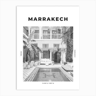 Marrakech Medina Art Print