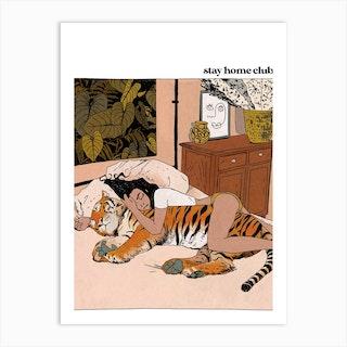 Stay Home Club Art Print