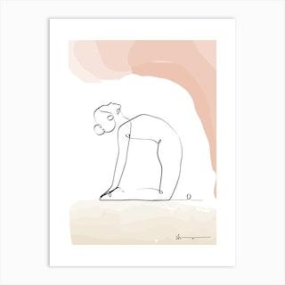 Camel Pose Ustrasana Art Print