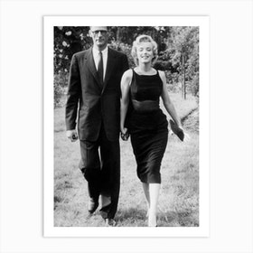 Marilyn Monroe With Her Husband Arthur Miller C Art Print