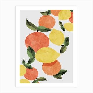 Oranges And Lemons Art Print
