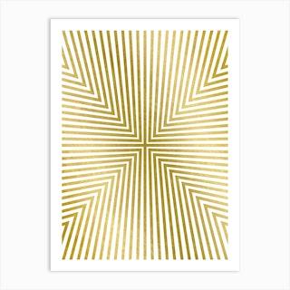 Converge Gold Art Print