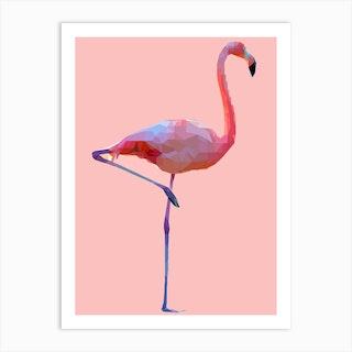 Flamingo Pink Art Print