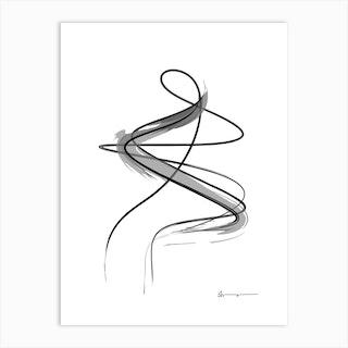 Spiral Strokes 12 Art Print