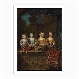 The Daughters Of Sir Matthew Decker 1718 Art Print