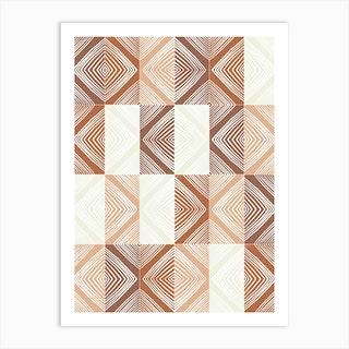 Mudcloth Tiles 02 Art Print