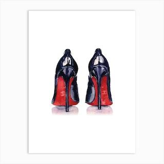 Black Heels With Red Bottom Art Print