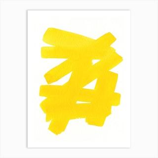 Superwatercolor Yellow Art Print
