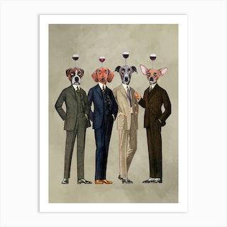 The Wineclub Art Print
