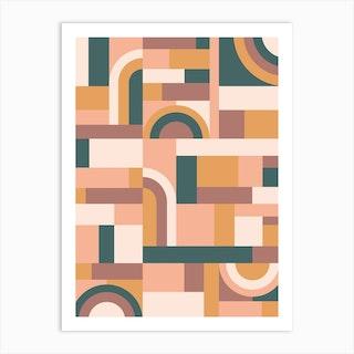 Muted Tones Blocks Art Print