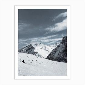 Snow On The Austrian Alps Ii Art Print