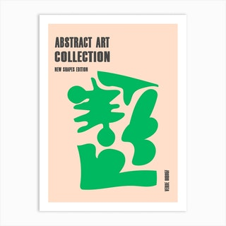 Abstract New Shapes Verde Art Print