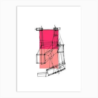 Pink Crane Art Print