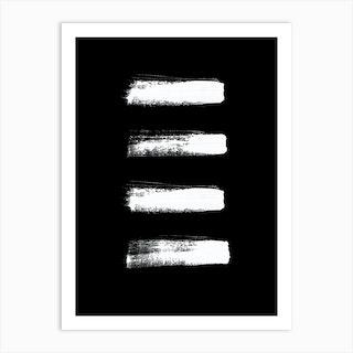 Four Minimal White Abstract Art Print