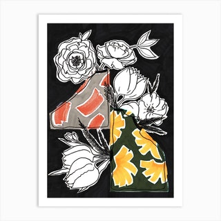 Boho Vases 2 Art Print
