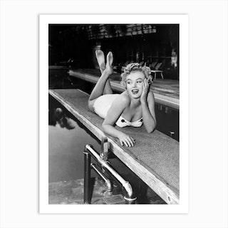 American Actress And Singer Marilyn Monroe Art Print