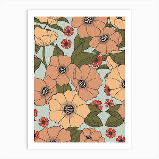 Big Ole Blooms Art Print