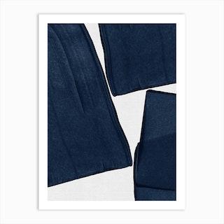 Minimalist Painting Blue Iii Art Print