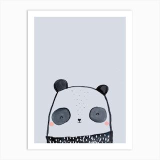 Inky Panda Art Print