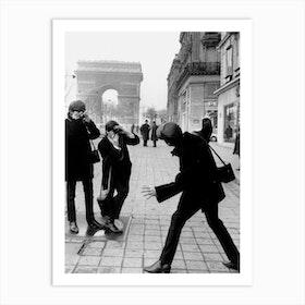 The Beatles In Paris Art Print