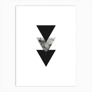 Abstract Triangles One Art Print