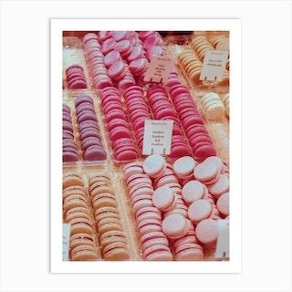 Pink Palette Macarons Art Print